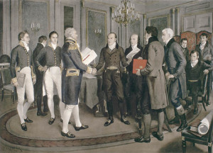 Treaty of Ghent signing, 1814